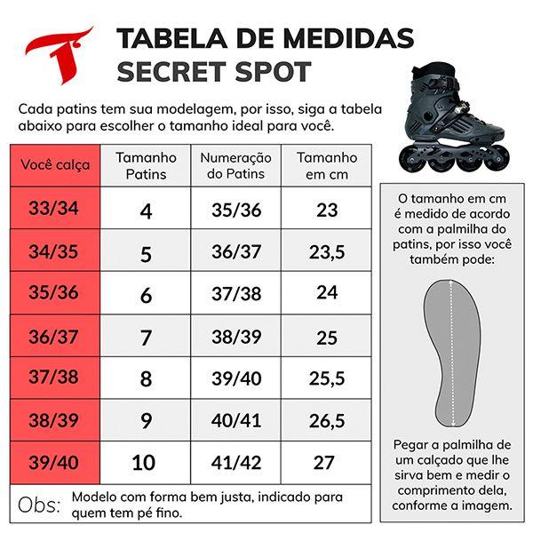 Patins Traxart Freestyle Secret Spot - Rodas 80mm ABEC-7 - 10% À VISTA NO BOLETO OU 1X NO CARTÃO