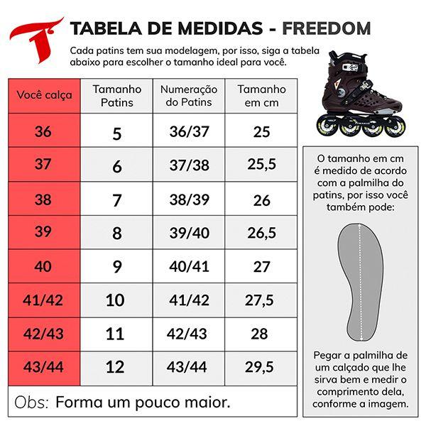 Patins Traxart Freestyle TXT Freedom - Rodas 80mm ABEC-7 Cromo
