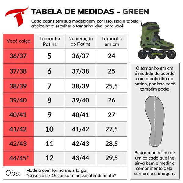 Patins Traxart Green Freestyle Urban - Rodas 80mm ABEC-9