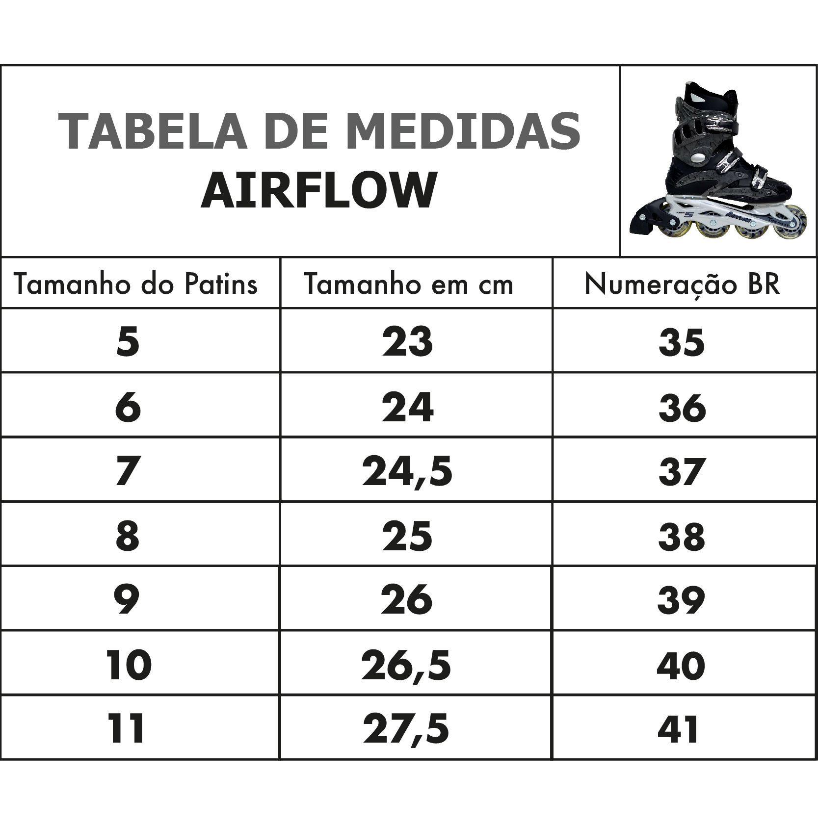 Patins Traxart Inline Airflow Cinza - Rodas 76mm ABEC-5