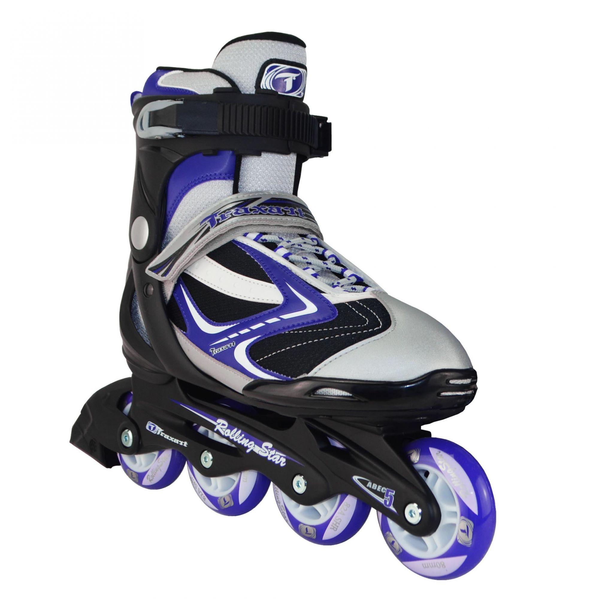 Patins Traxart Inline Rolling Star Roxo - Rodas 80mm ABEC-5