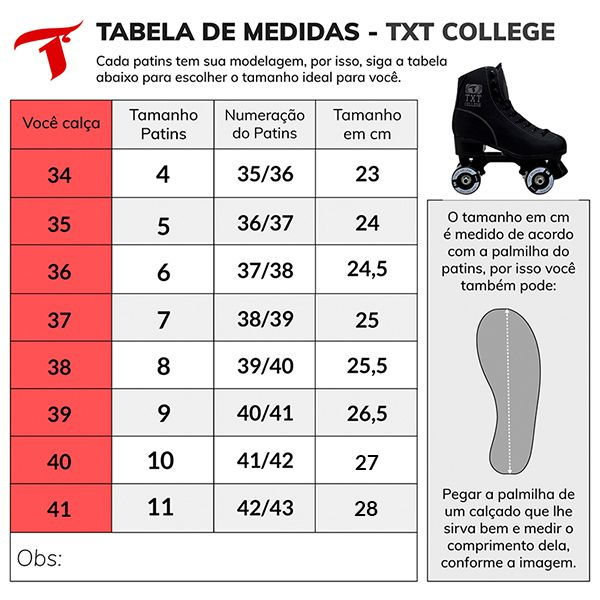 Patins Traxart Quad TXT College Black - ABEC-7