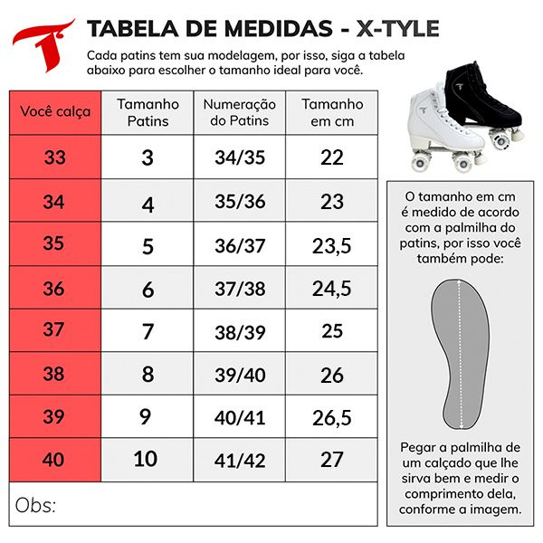 Patins Traxart Quad X-Tyle TXT - Rodas 58mm/83A ABEC-5