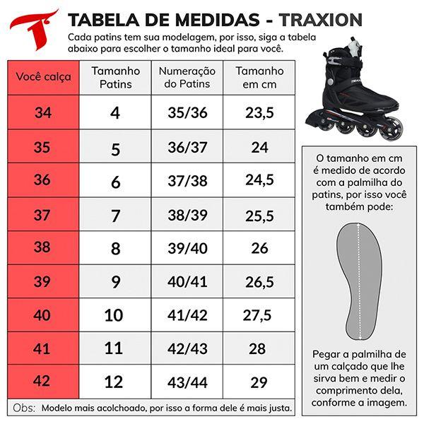 Patins Traxart Recreação Traxion Preto - Rodas 80mm ABEC-5 - 10% À VISTA NO BOLETO OU 1X NO CARTÃO