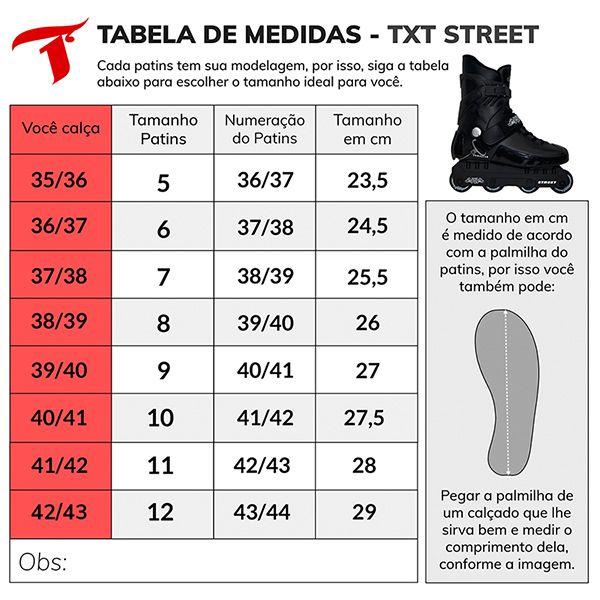 Patins Traxart TXT Street - Rodas 61mm ABEC-3