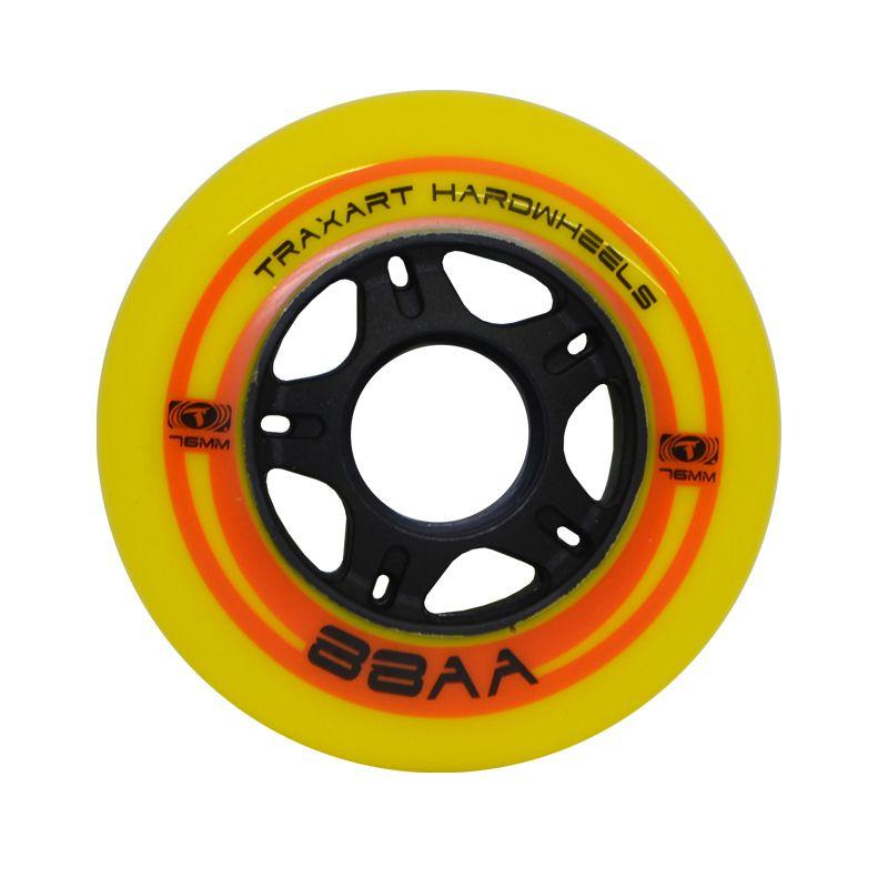Jogo de Rodas Traxart Fitness Hardwheels 76mm/88AA - Amarela