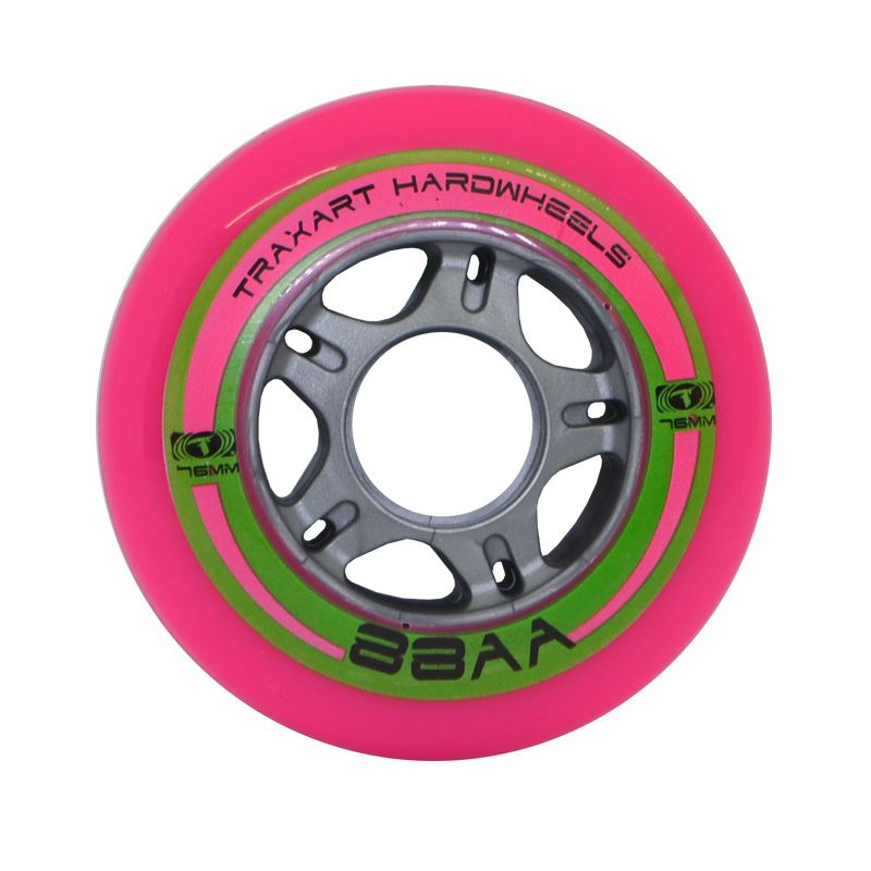 Jogo de Rodas Traxart Fitness Hardwheels 76mm/88AA - Pink