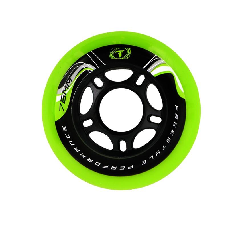 Rodas Freestyle Traxart Krazyleg 76mm - Verde