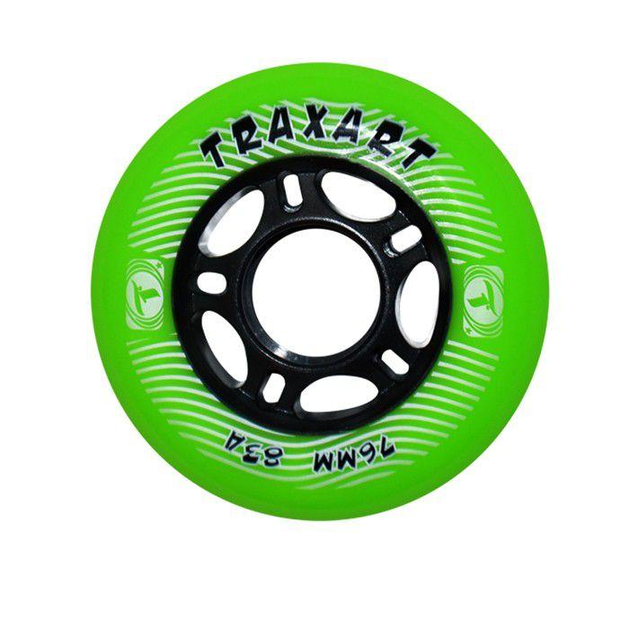 Jogo de Rodas Traxart Fitness 76mm/83A - Verde