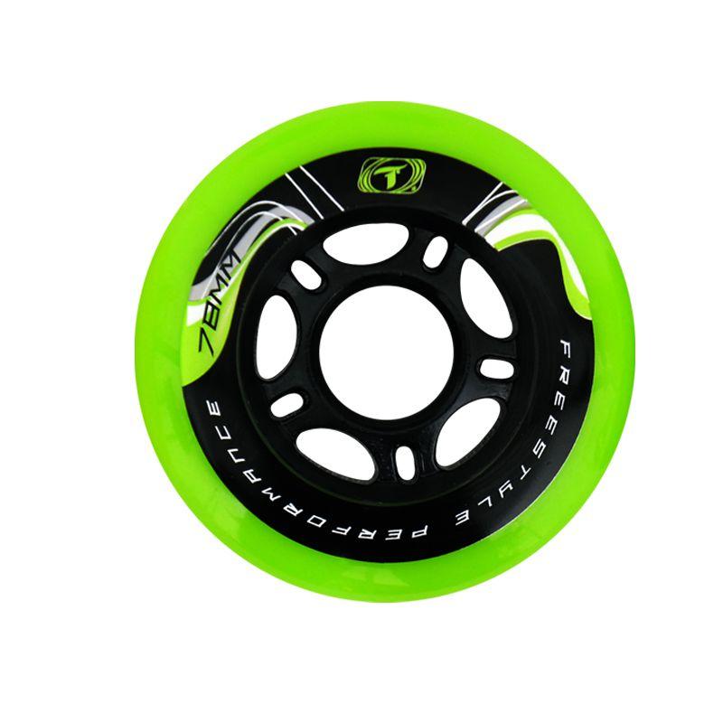 Jogo de Rodas Traxart Freestyle Krazyleg 78mm - Verde