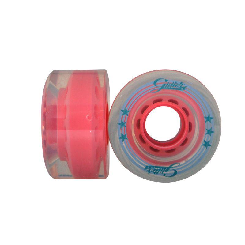Jogo de Rodas Traxart Quad Glitter 58x32mm - Rosa