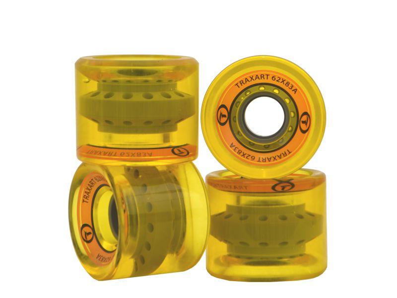 Rodas Traxart Longboardt 62mm - Amarelo - DM-414