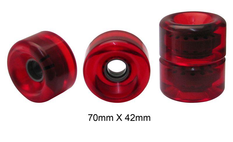 Rodas Traxart Longboard 70 X 42mm- Vermelho - DF-455