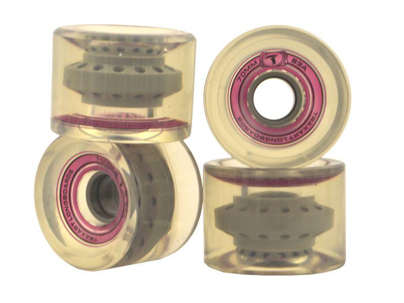 Rodas Traxart Longboard 70 x 51mm- Transparente - DM-420