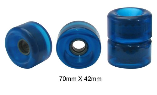 Rodas Traxart Longboard 70 mm - Azul - DF-455