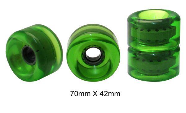 Rodas Traxart Longboard 70 X 42mm -Verde - DF-455