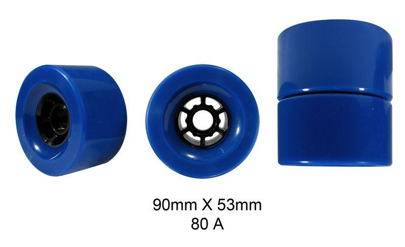 Rodas Traxart Longboard 90 X 53mm - Azul - DL-049
