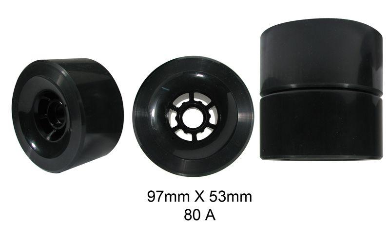 Rodas Traxart Longboard 97 X 53mm - Preto -- DL-050