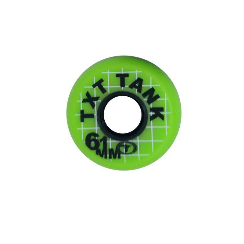 Jogo de Rodas Traxart Street - TXT TANK 61mm/85A - Verde