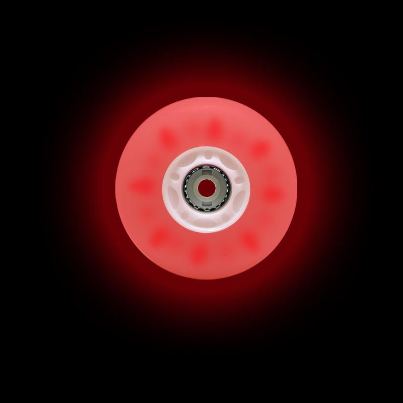 Jogo de Rodas Traxart Inline com LED 72mm/83A - Vermelho