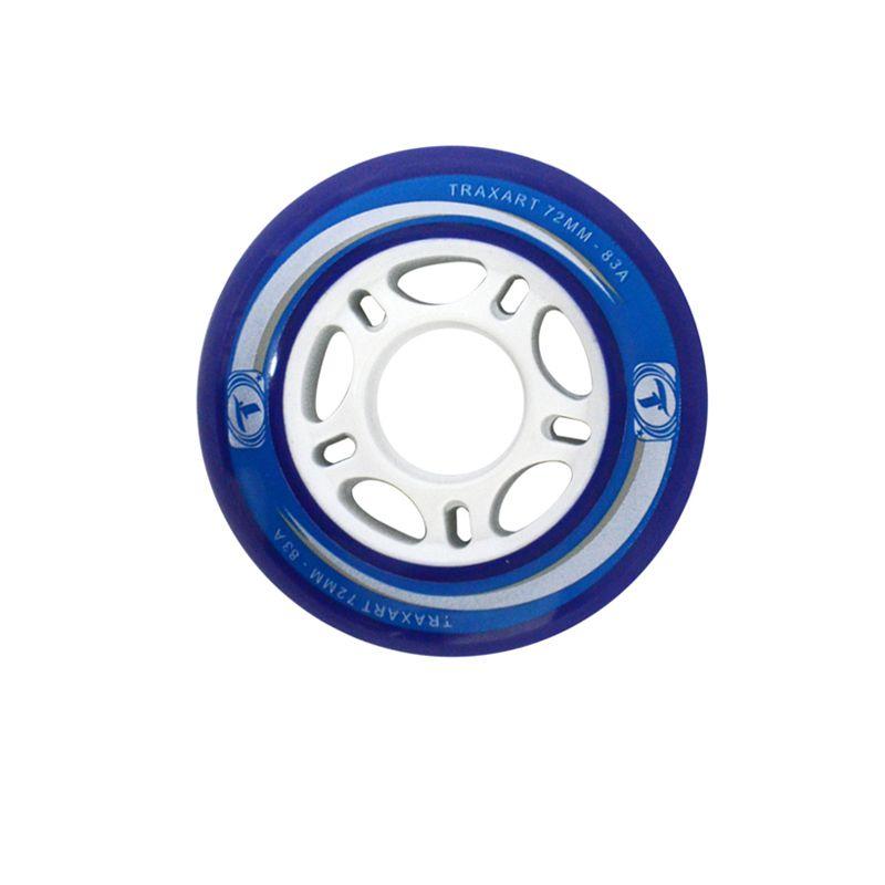 Jogo de Rodas Traxart Fitness 72mm/83A - Azul