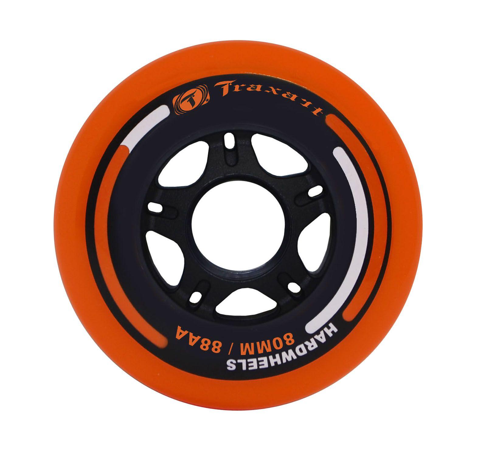 Jogo de Rodas Traxart Fitness Hardwheels 80mm/88A - Laranja