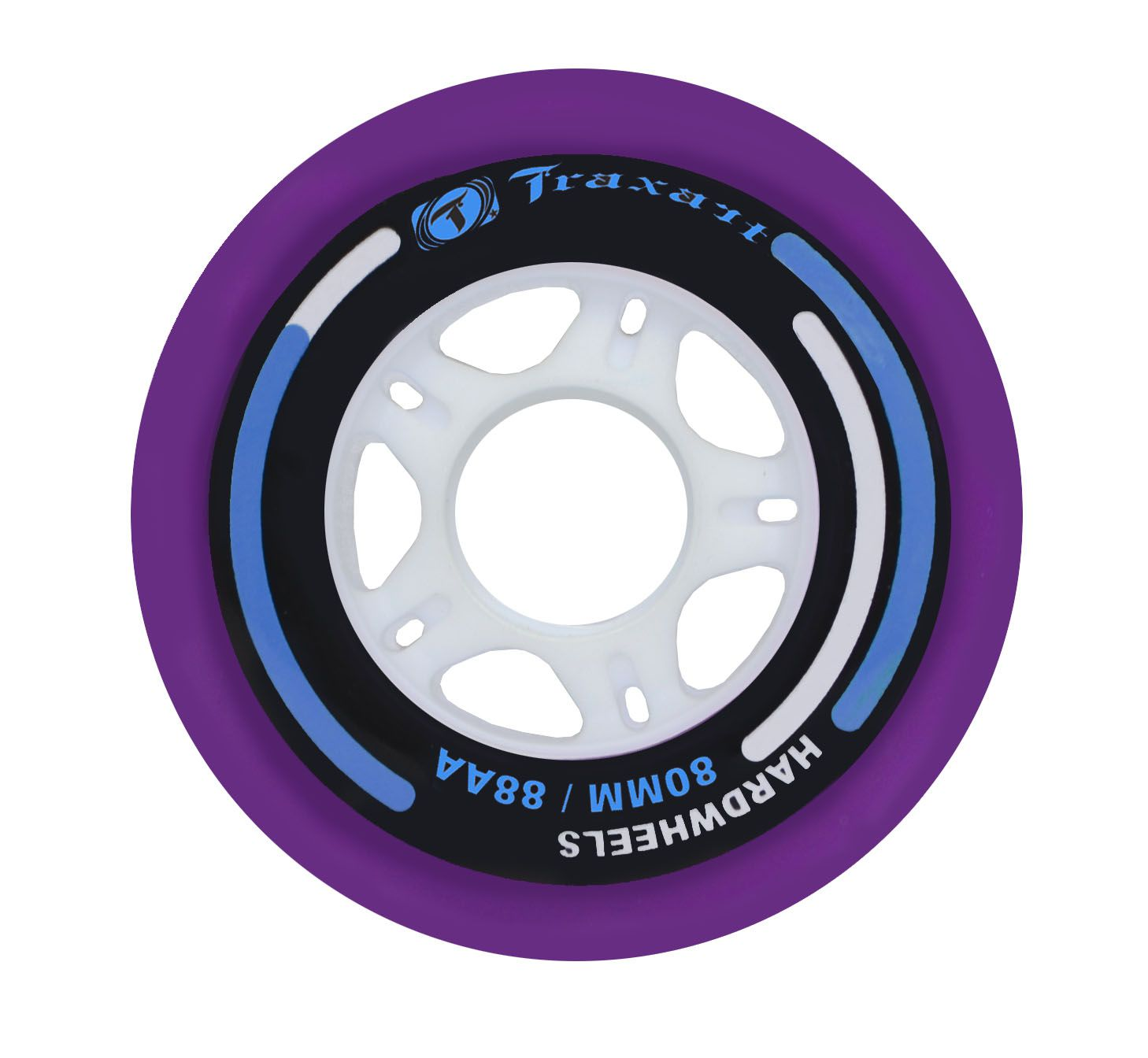 Jogo de Rodas Traxart Fitness Hardwheels 80mm/88A - Roxo