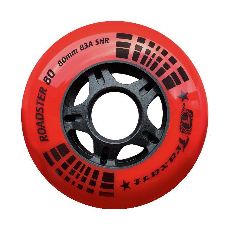 Jogo de Rodas Traxart Fitness Roadster 80 80mm/83A - Vermelho