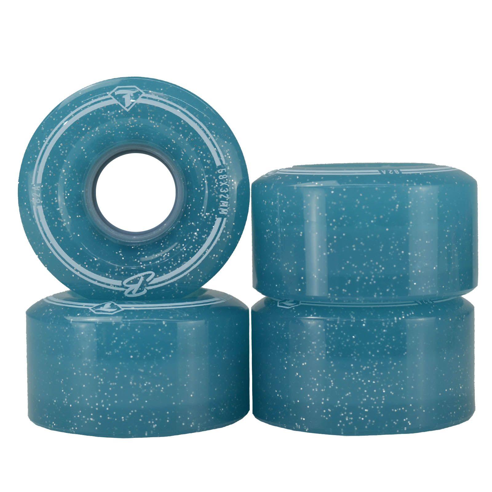Jogo de Rodas Traxart Quad Brilliant 58x32mm/82A - Azul
