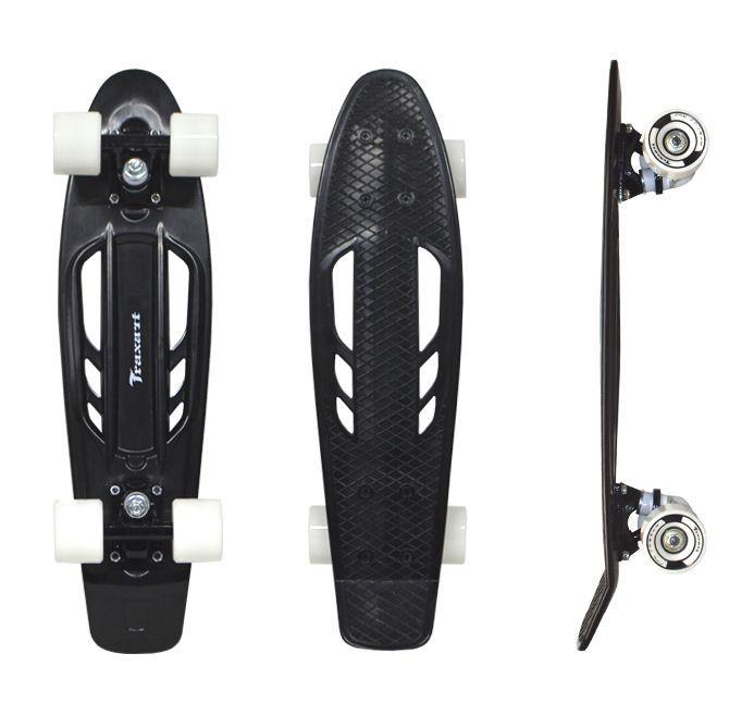 Skate Cruiser Traxart  - 15x57cm - Preto
