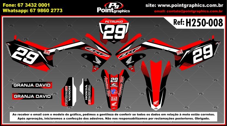 Kit Grafico Crf250 Ano 2010 2013 Crf 450 2009 2012