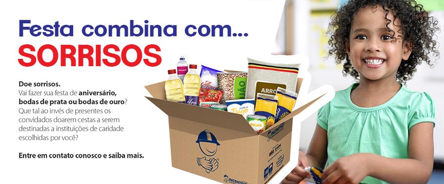 cestas para doações