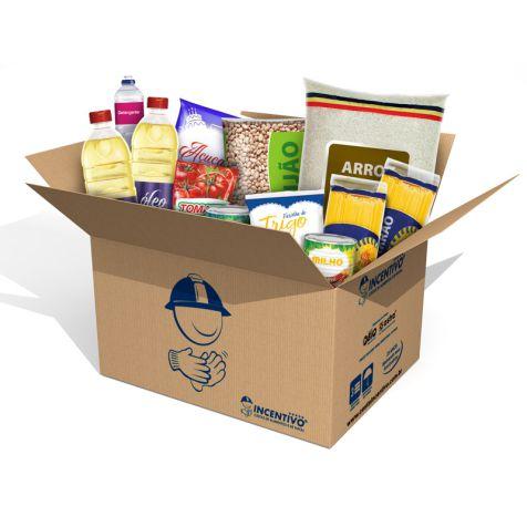 Cesta Básica  Econômica + Higiene - Campanha Solidário Fábrica de Abraços  - Cesta Incentivo - Cesta Básica e Cesta de Natal
