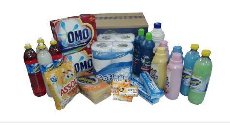 Cesta Básica Higiene & Limpeza Plus 728 - Campanha Solidária – Cestas OUTStand  - Cesta Incentivo - Cesta Básica e Cesta de Natal