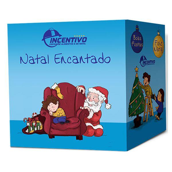 Cesta de Natal Felicidade Térmica - Zero Álcool  - Cesta Incentivo - Cesta Básica e Cesta de Natal