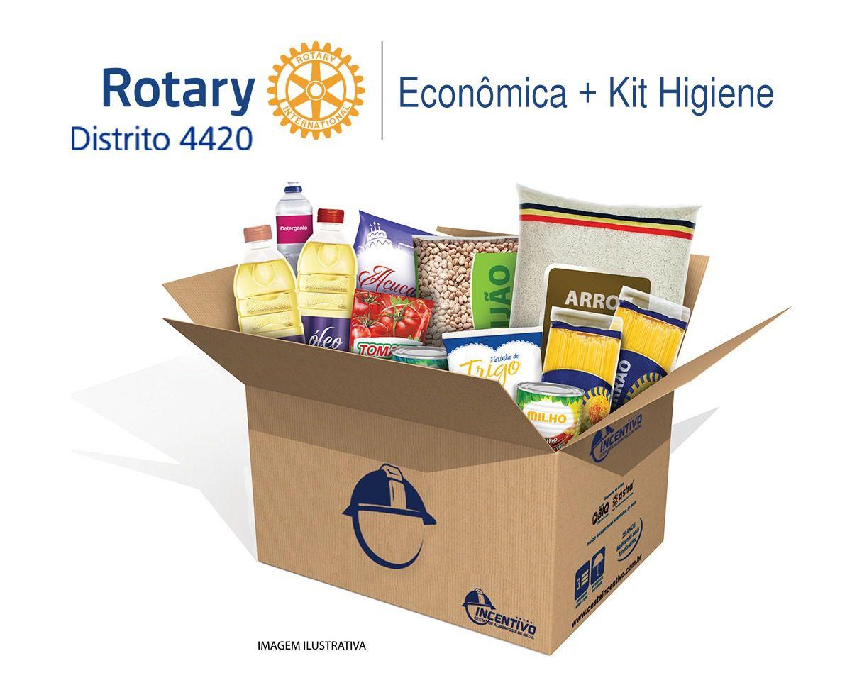 Rotary 4420 - Cesta Básica  Econômica + Higiene - EXCLUSIVO RC SBC Novo Horizonte  - Cesta Incentivo - Cesta Básica e Cesta de Natal
