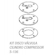 Kit disco válvula cilindro do compressor s-136