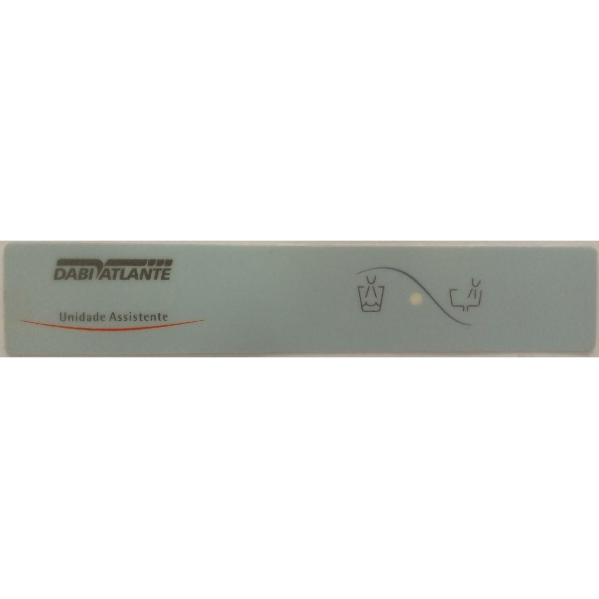 Teclado Membrana / Etiqueta Unidade Assistente com Copo (Sob Encomenda)  - DABI ATLANTE - TOP ODONTO