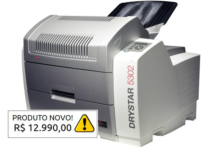 IMPRESSORA DRY AGFA 5302 - NOVA - LACRADA  - DABI ATLANTE - TOP ODONTO