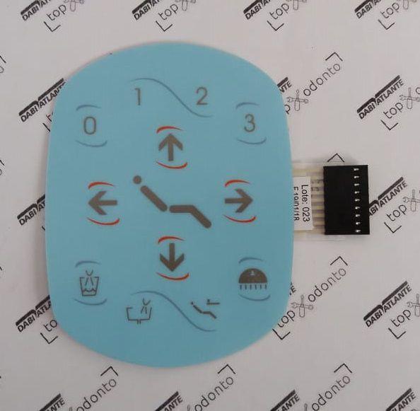 Teclado Membrana / Etiqueta comando Eletrônico da Unidade 200  - DABI ATLANTE - TOP ODONTO