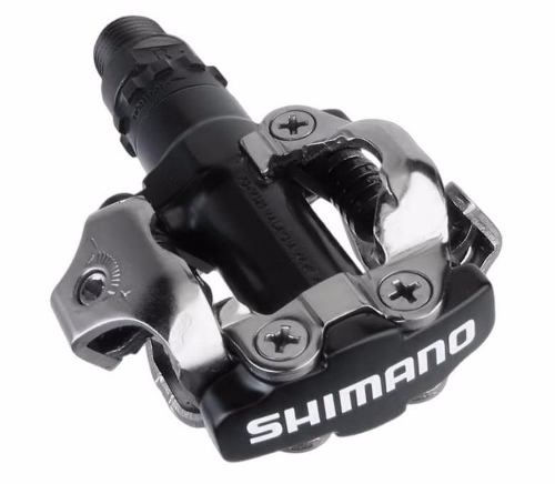 Pedal Clip Mtb Shimano M520 Preto Com Taquinhos Sh-51