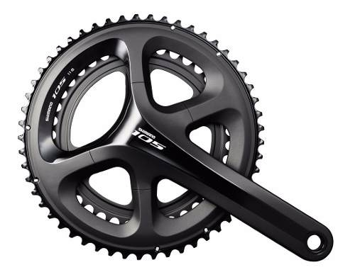 Pedivela Road Shimano 105 5800 53-39 172.5mm 11v Speed cor Preto