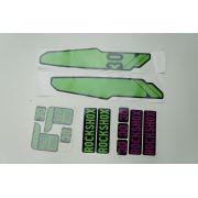 Adesivos Para Suspensão Rock Shox XC 30 Personalizados Cor Verde