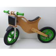 Bicicleta Infantil De Madeira Equilíbrio Aro 12 BBike Sem Pedais - USADA