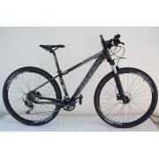 Bicicleta MTB Vicinitech V6.0 Alumínio 2018 Tamanho 15 Preta Fosco com Branco