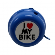 Buzina Campainha Trim-trim Bicicleta I Love My Bike Aço Várias Cores