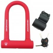 Cadeado Bicicleta Kode U-lock Super Reforçado Com Chave Anti-Furto Serve para Portão