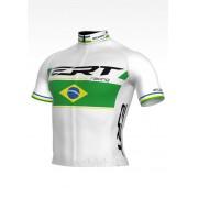 Camisa de Ciclismo ERT New Elite Racing Campeão Brasileiro Cor Branca - Vários Tamanhos