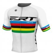 Camisa de Ciclismo ERT New Elite Racing Campeão Mundial Branco - Vários Tamanhos