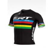 Camisa de Ciclismo ERT New Elite Racing Campeão Mundial Preto - Vários Tamanhos